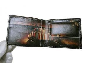 No.4 財布 メンズ二つ折 ブラック/ミニクーパーナイトランガー