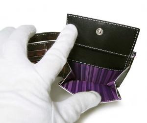 No.6 財布 メンズ二つ折 ブラック/ミニクーパーナイトランガー