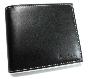 No.7 財布 メンズ二つ折 ブラック/ミニクーパーナイトランガー