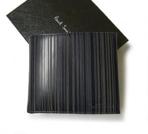 ポールスミス 二つ折財布(ブルー+マルチストライプ) MainPhoto