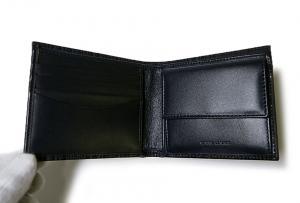 No.3 二つ折財布(ブルー+マルチストライプ)