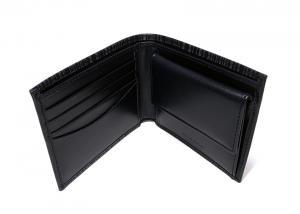 No.4 二つ折財布(ブルー+マルチストライプ)
