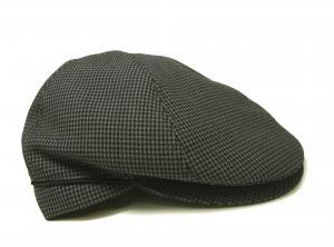 No.3 ハンチング 帽子 (グレー千鳥格子) Sサイズ