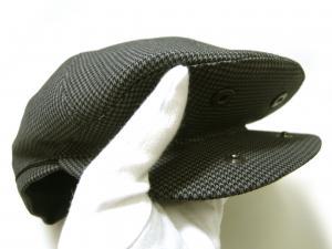 No.4 ハンチング 帽子 (グレー千鳥格子) Sサイズ