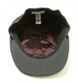 No.5 ハンチング 帽子 (グレー千鳥格子) Sサイズ