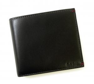 No.7 財布 メンズ 二つ折 (ブラック/ミニクーパー)