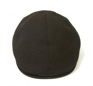No.2 ハンチング 帽子 (ブラウン千鳥格子) Sサイズ(頭周り55.5cm)