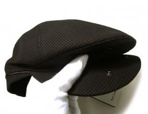 No.5 ハンチング 帽子 (ブラウン千鳥格子) Sサイズ(頭周り55.5cm)