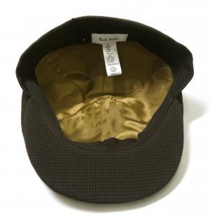 No.6 ハンチング 帽子 (ブラウン千鳥格子) Sサイズ(頭周り55.5cm)