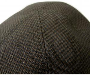 No.8 ハンチング 帽子 (ブラウン千鳥格子) Sサイズ(頭周り55.5cm)