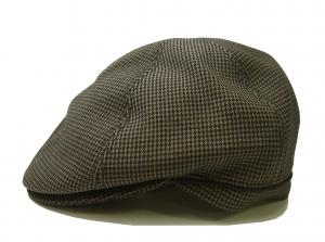 ポールスミス ハンチング 帽子 (カーキ千鳥格子) Sサイズ(頭周り約55.5cm)