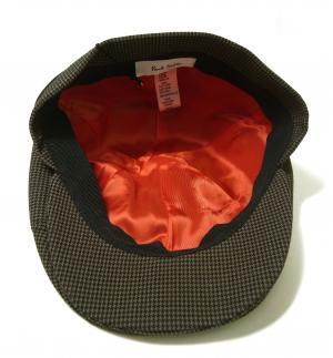 No.6 ハンチング 帽子 (カーキ千鳥格子) Sサイズ(頭周り約55.5cm)