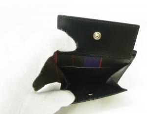 No.5 財布 メンズ 二つ折 (ブラック/ミニクーパー)