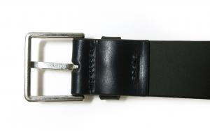 No.4 ベルト メンズ カラーバンド カーフレザー 90サイズ (ダークブルー)