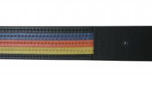 No.6 ベルト メンズ カラーバンド カーフレザー 90サイズ (ダークブルー)