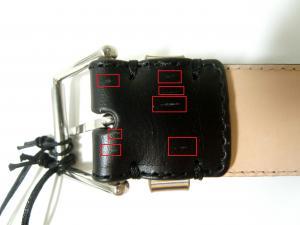 No.7 <訳あり・アウトレット>ベルト メンズ マルチストライプキープ 94cmサイズ
