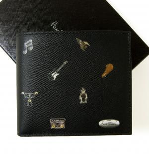 ポールスミス 財布 二つ折 カフスボタンプリントデザイン MainPhoto