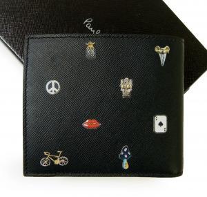 No.2 財布 二つ折 カフスボタンプリントデザイン