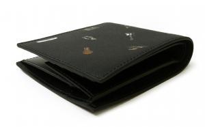 No.3 財布 二つ折 カフスボタンプリントデザイン