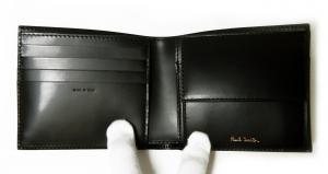 No.4 財布 二つ折 カフスボタンプリントデザイン