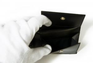 No.6 財布 二つ折 カフスボタンプリントデザイン