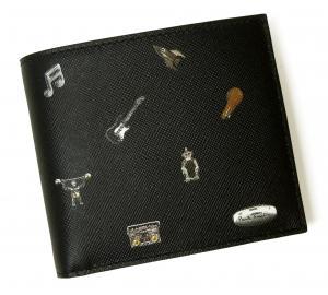 No.7 財布 二つ折 カフスボタンプリントデザイン