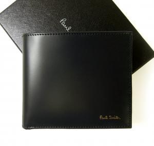ポールスミス 財布 メンズ 二つ折 (ダークブルー+マルチストライプ)