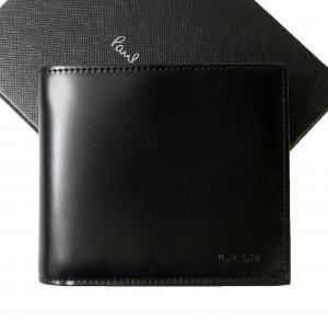 ポールスミス 財布 メンズ 二つ折 (ブラック/ミニクーパー)