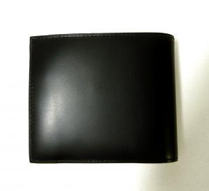No.2 財布 メンズ 二つ折 (ブラック/ストライプスカーフ)