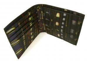 No.5 財布 メンズ 二つ折 (ブラック/ストライプスカーフ)
