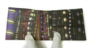 No.6 財布 メンズ 二つ折 (ブラック/ストライプスカーフ)