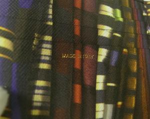 No.8 財布 メンズ 二つ折 (ブラック/ストライプスカーフ)