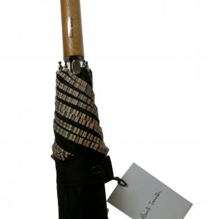 No.4 傘 アンブレラ(ブラック/マルチストライプ柄)WALKER