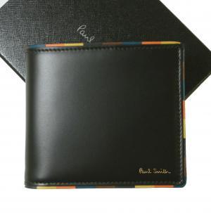 ポールスミス 財布 メンズ 二つ折 ブライトストライプ エッジ ボーダー