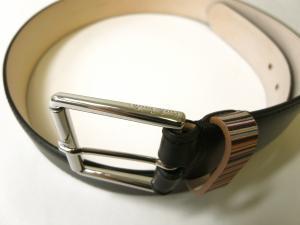 No.2 ベルト メンズ マルチストライプ(ブラック)