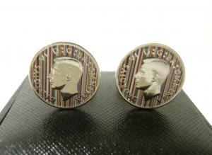 ポールスミス カフスボタン コイン イギリスコイン ストライプ カフリンク