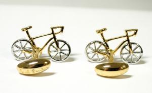 No.3 カフスボタン 自転車 レーサー カフリンク