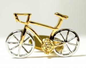 No.5 カフスボタン 自転車 レーサー カフリンク