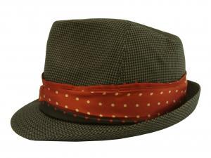 ポールスミス 帽子 トゥリルビー 中折れ帽 ハット (カーキ千鳥格子) Sサイズ(頭周り57cm)