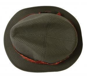 No.8 帽子 トゥリルビー 中折れ帽 ハット (カーキ千鳥格子) Sサイズ(頭周り57cm)