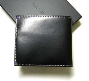 No.2 二つ折財布(ブラック/ヌードガール)