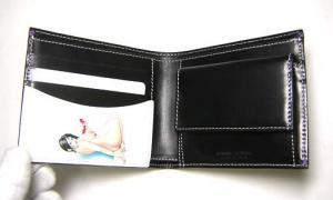 No.3 二つ折財布(ブラック/ヌードガール)