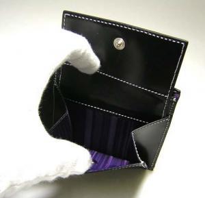 No.6 二つ折財布(ブラック/ヌードガール)