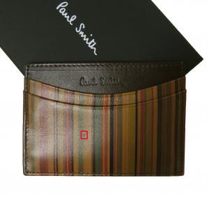 ポールスミス  <訳あり・アウトレット>カードケース(マルチストライプ)