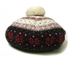 ポールスミス 帽子 レディス ニットベレー帽 (チャコールグレー)