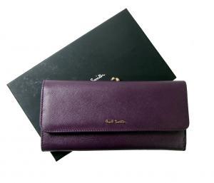 ポールスミス 財布 レディース がま口  三つ折 長財布