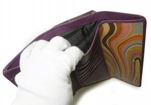 No.4 財布 レディース がま口  三つ折 長財布