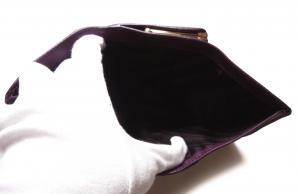 No.5 財布 レディース がま口  三つ折 長財布
