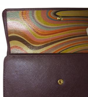 No.6 財布 レディース がま口  三つ折 長財布