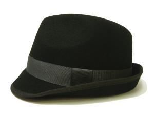 ポールスミス 帽子 中折れハット フェルトウール Mサイズ(頭周り58.5cm)(ブラック)